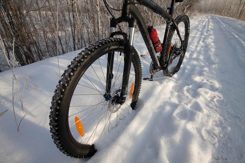 Зимние покрышки для велосипеда: их особенности и критерии выбора