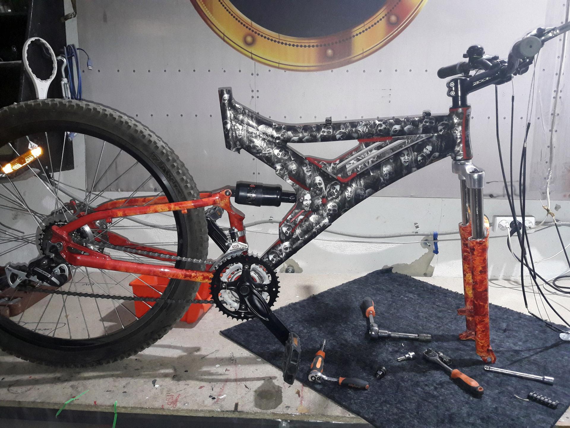 Чем и как покрасить велосипед?