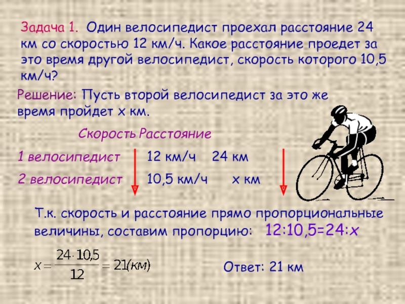 Скорости движения на различных велосипедах в разных условиях