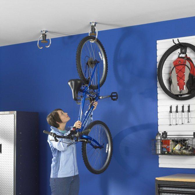 Как и где хранить велосипед: идеи, способы, фото и видео