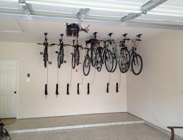 Как подвесить велосипед в гараже для хранения: это очень удобно