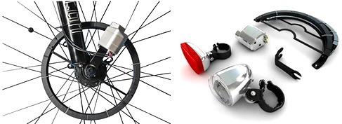 Бесконтактный генератор электричества для велосипеда