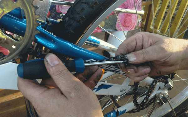 Как снять и одеть цепь на велосипеде