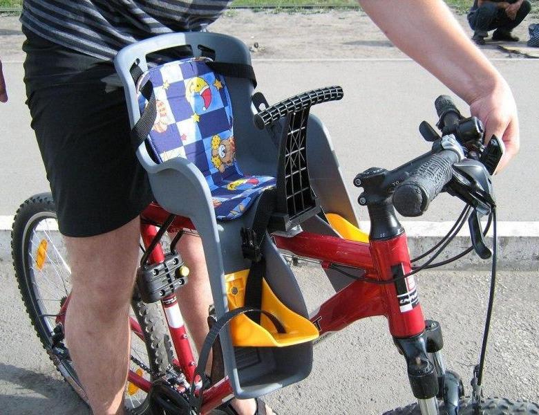 Детское сиденье на велосипед на раму