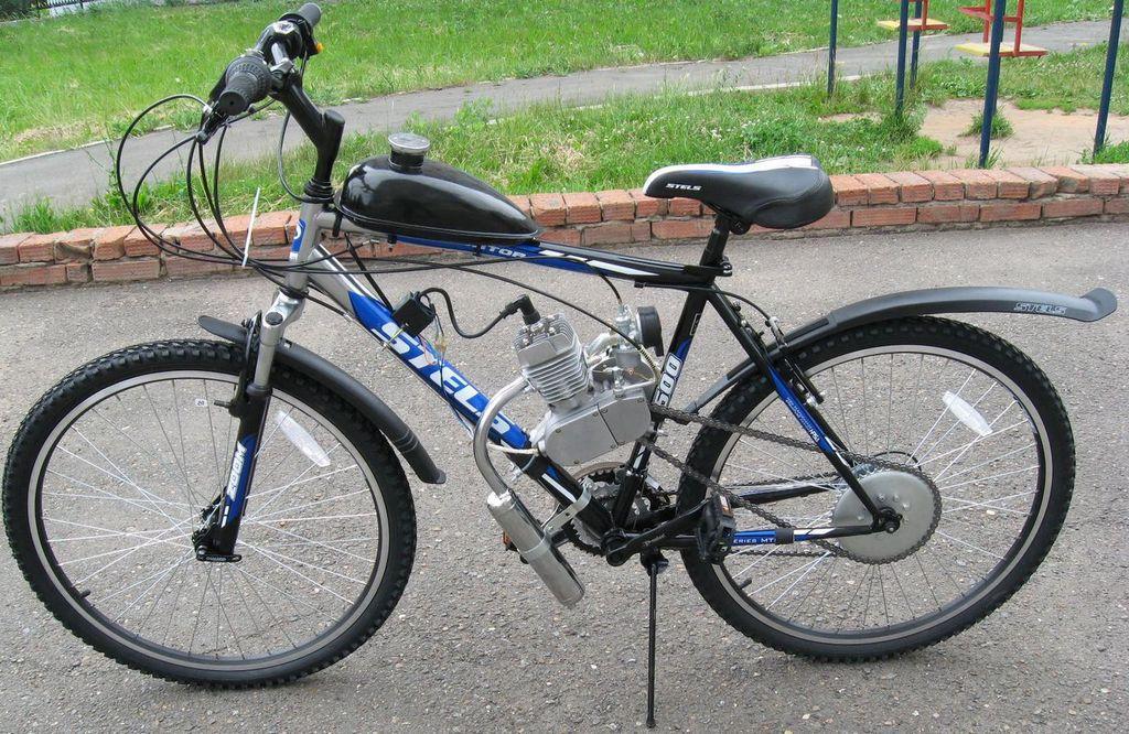 Велосипед с бензиновым мотором: преимущества и недостатки
