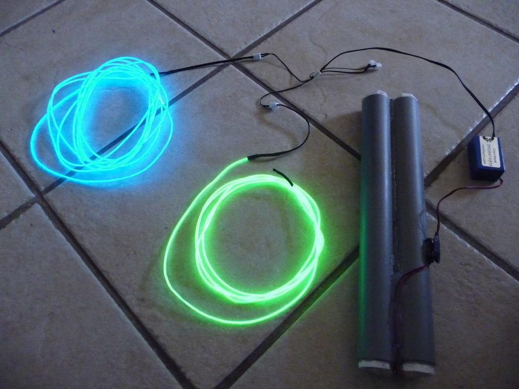 Подсветка велосипеда неоном или светодиодами
