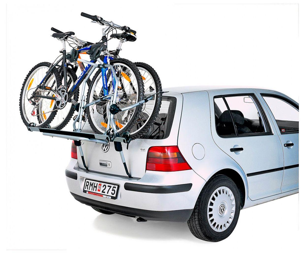 Велокрепления на крышу автомобиля, фаркоп, заднюю дверь. плюсы и минусы, марки, цены