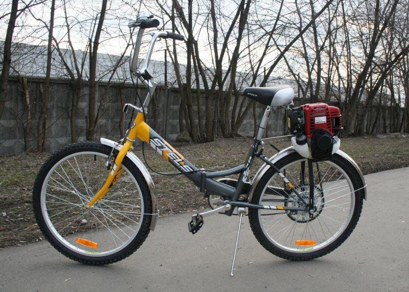 Бензиновый двигатель для велосипеда - преимущества. недостатки, как установить