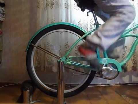 Велотренажер из велосипеда своими руками