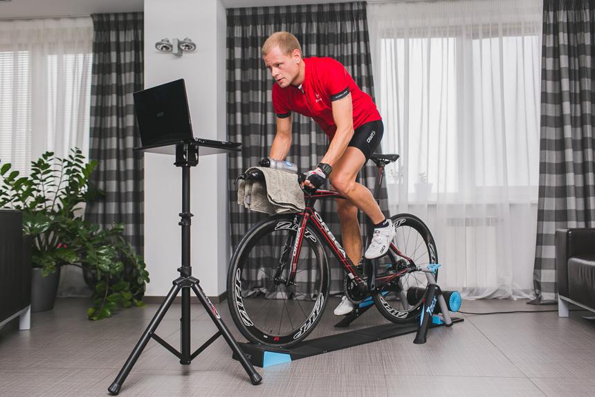 Тренировка возрастных велосипедистов