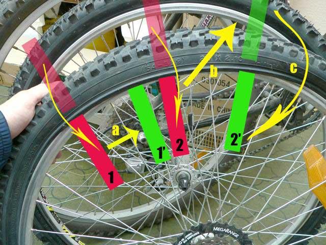 Как снять заднее колесо