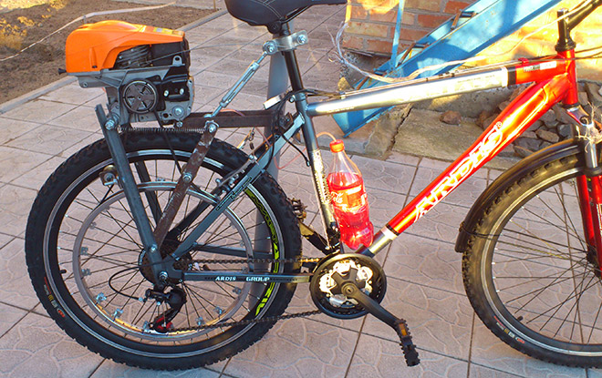 Изготовление велосипеда с мотором своими руками