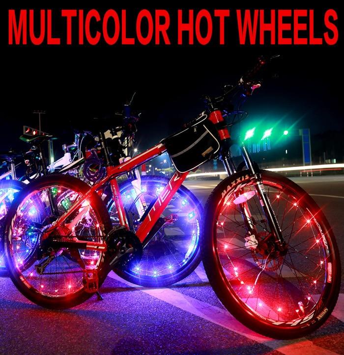 Подсветка колес на велосипеде 3 способами. какой вариант лучше?