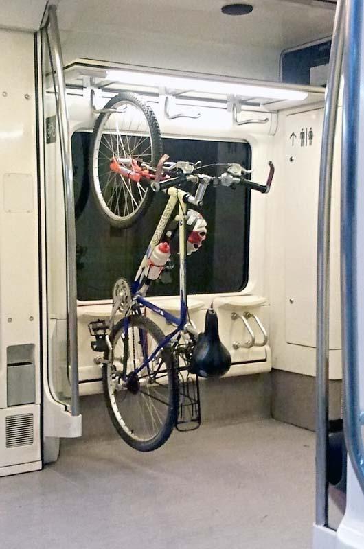 Можно ли в электричку с велосипедом