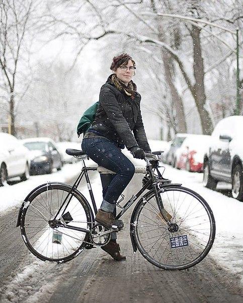 Четыре правила для тех, кто продолжает зимой ездить на велосипеде по городу