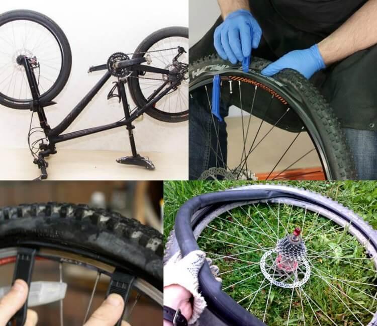 Как заклеить заплатку на камеру велосипеда не снимая колеса