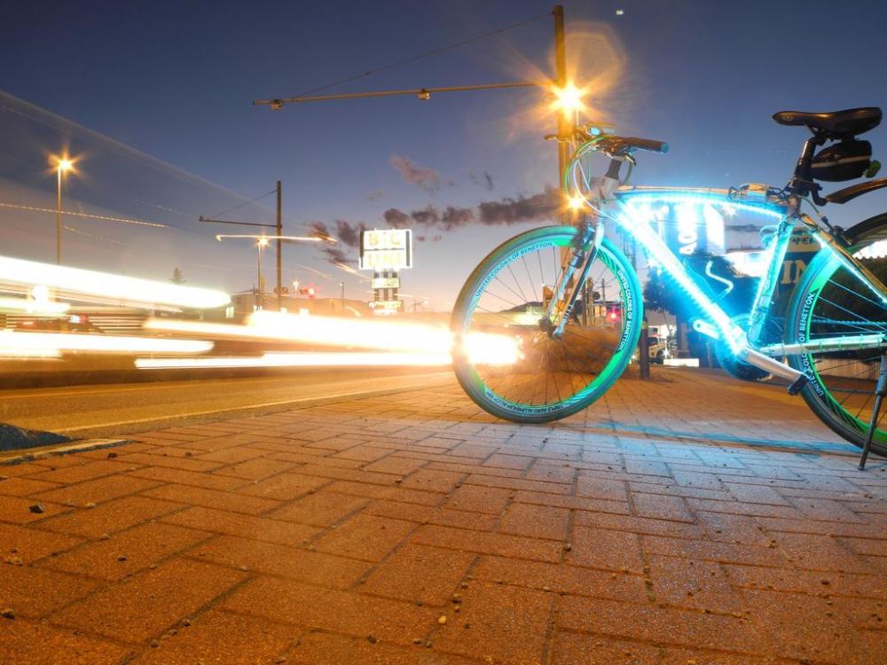 Подсветка велосипеда неоном или светодиодами — всё о велоспорте