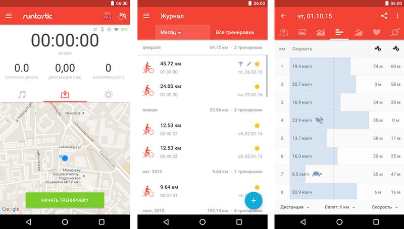Подборка приложений для велосипедистов на android