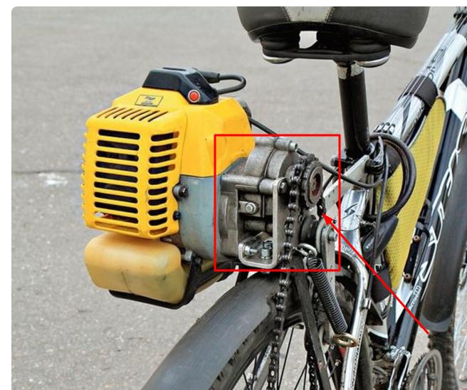 Мотор с триммера на велосипед и самокат