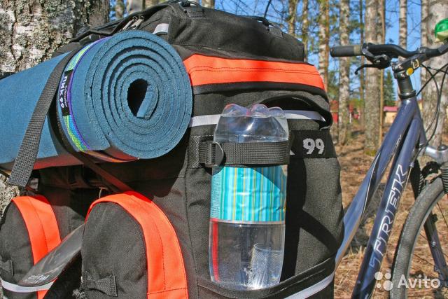Обзор велорюкзаков на багажник (рюкзак-штаны, например, пик-99)
