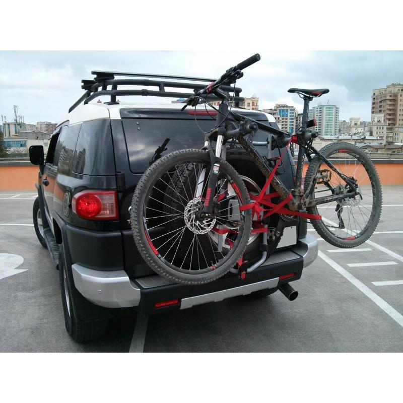 Багажник для велосипеда на заднюю дверь автомобиля (выбор и крепление)