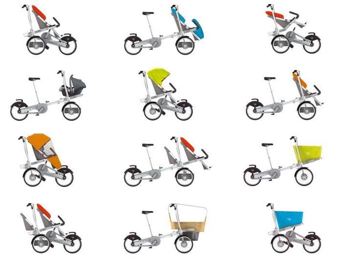 Велосипед-коляска для мамы taga