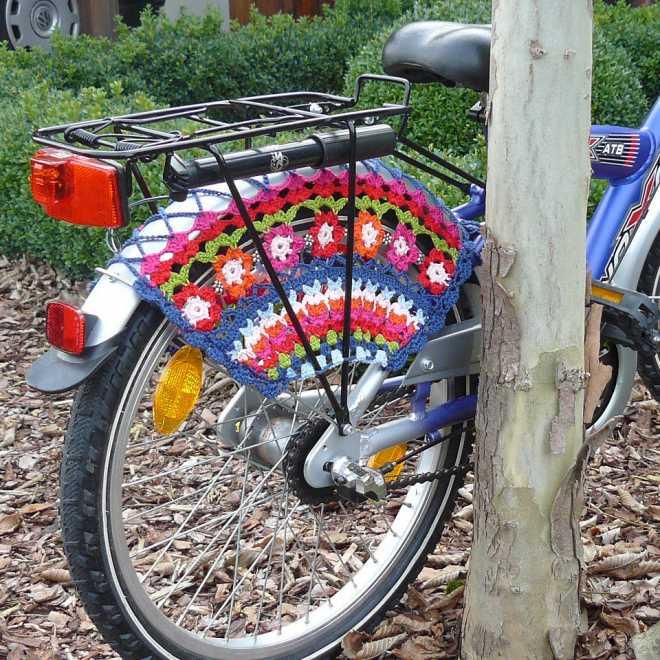 Клумба из велосипеда своими руками + фото