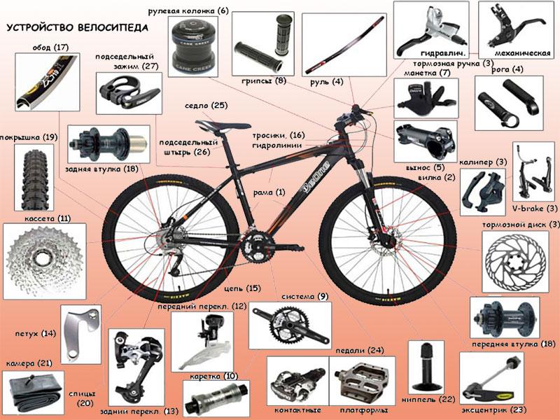 Переднее колесо велосипеда: как собрать, разобрать, установка