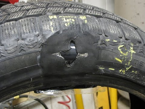 Грыжа на колесе: можно ли ездить и как убрать