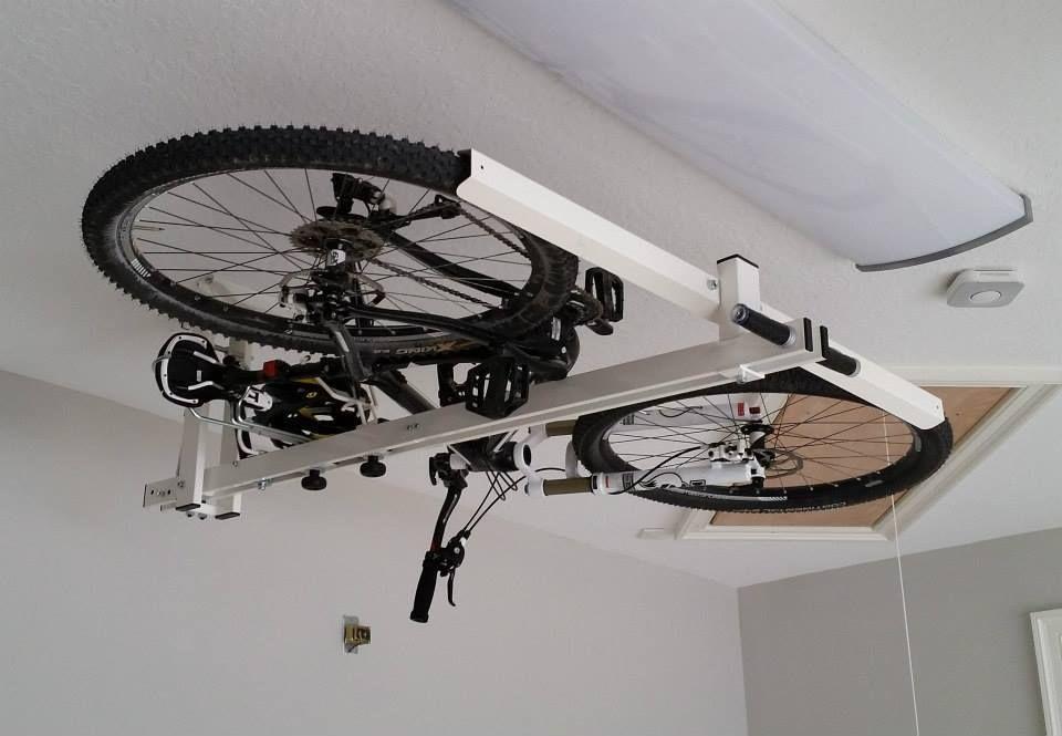 Крепление велосипеда к потолку: виды подвесов (крюк, лифт, кронштейн)