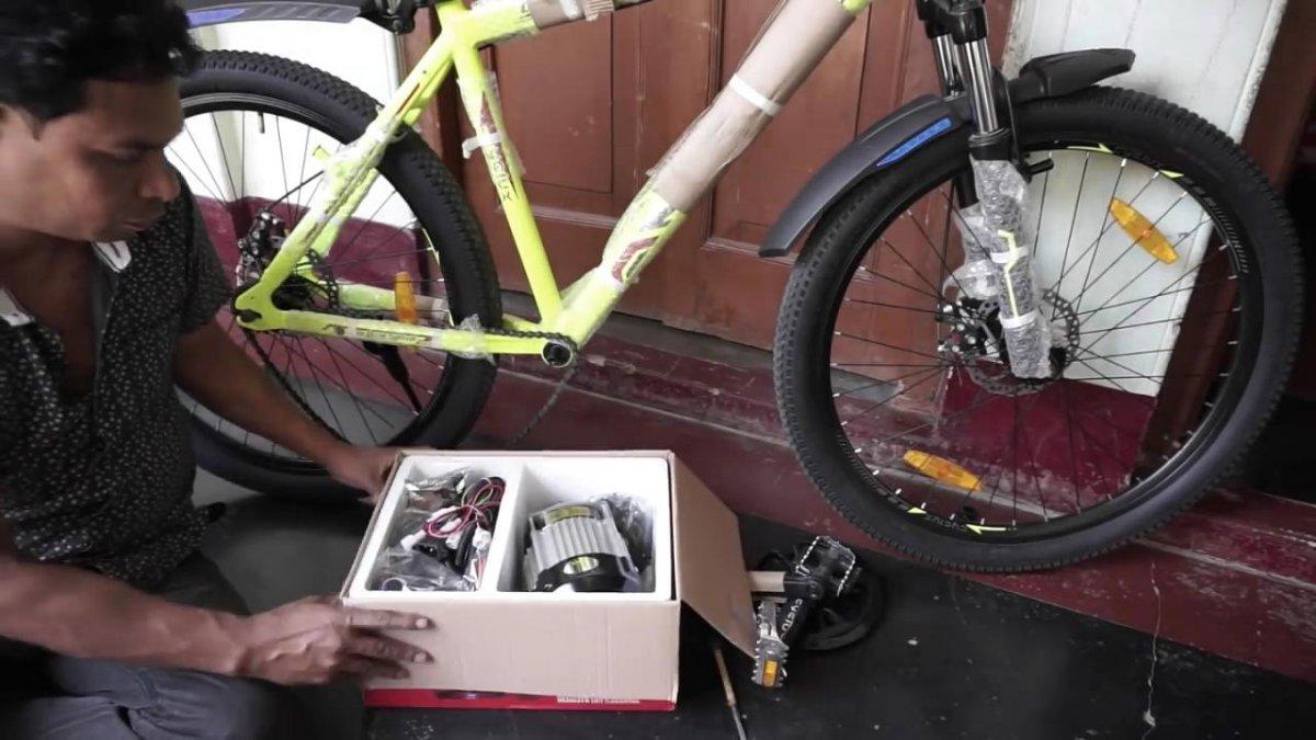 Установка мотор-колеса на велосипед своими руками