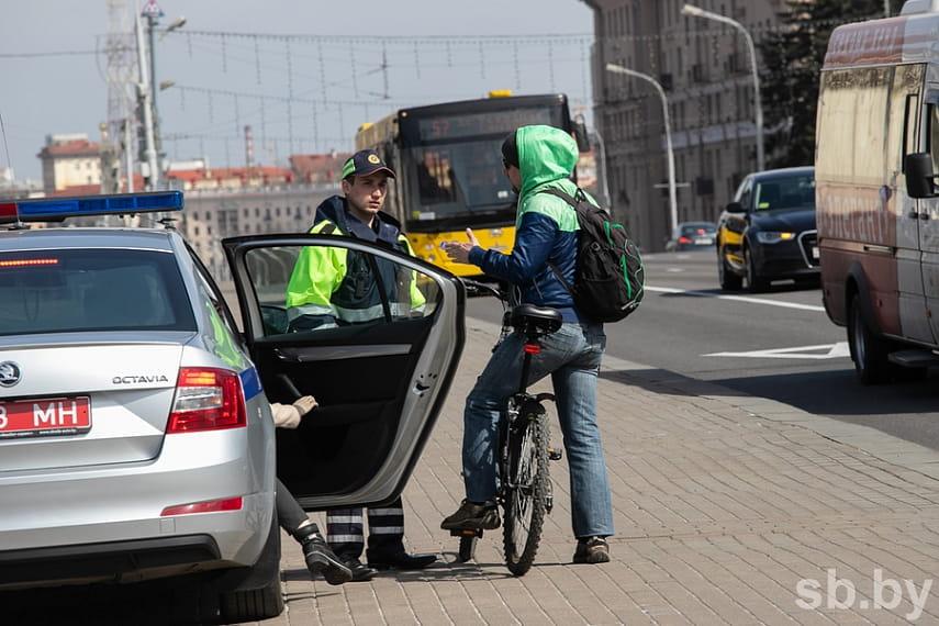 Штраф, если не уступил дорогу велосипедисту