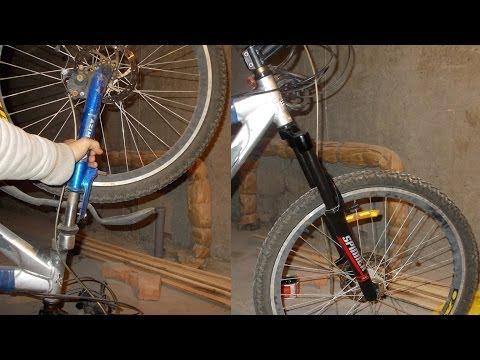 Как разобрать вилку велосипеда с амортизатором