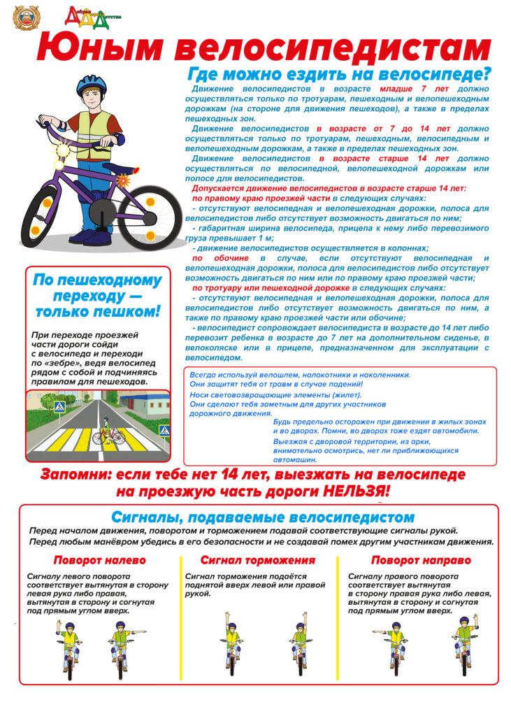 Права и обязанности велосипедиста