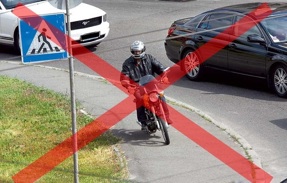 Предусмотрен ли пдд штраф за езду по тротуару на машине и в каком размере? можно ли ездить и какое наказание?