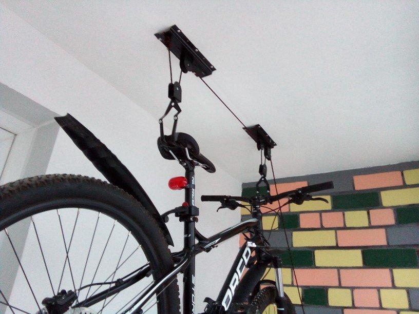 Как выбрать крепление велосипеда к потолку