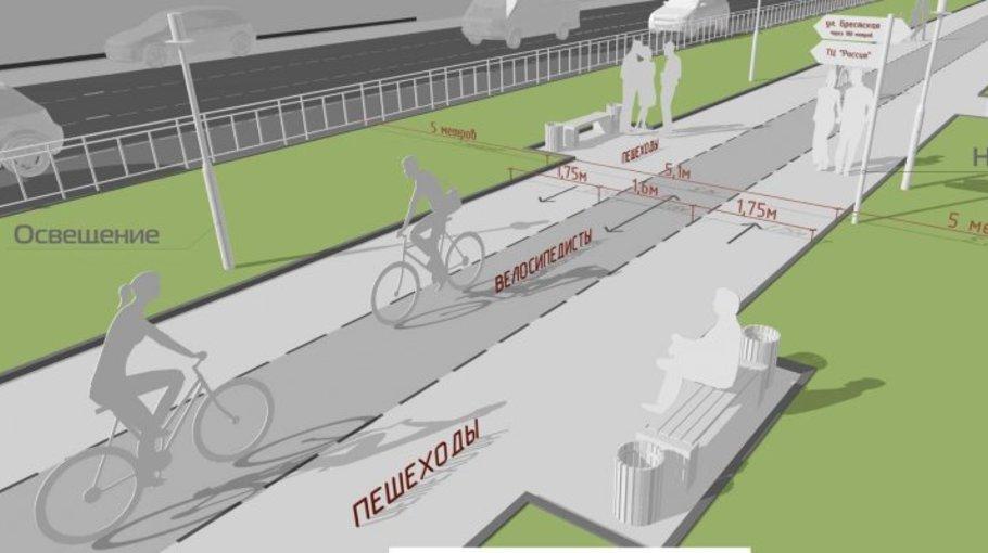 Как выглядит дорожный знак велосипедная дорожка?