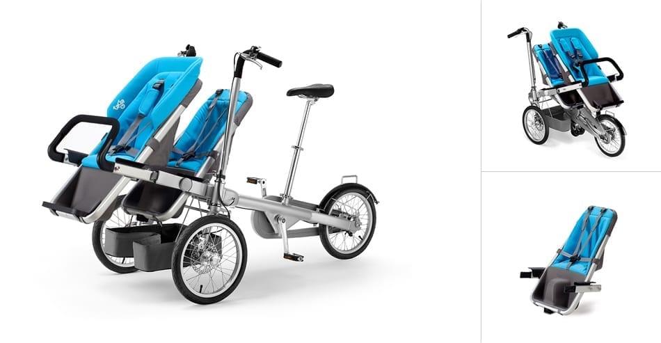 Взрослый велосипед с коляской: покупной и своими руками