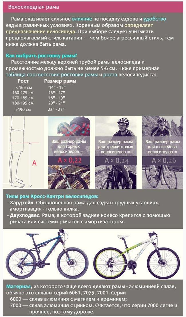 Велосипедная рама: основные характеристики