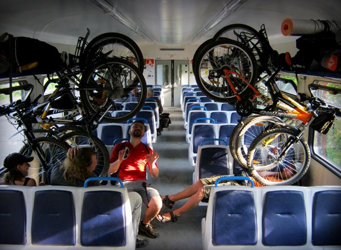 Перевозка велосипеда в поезде дальнего следования