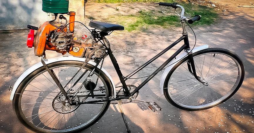 Как своими руками доработать велосипед, оснастив его мотором от бензопилы
