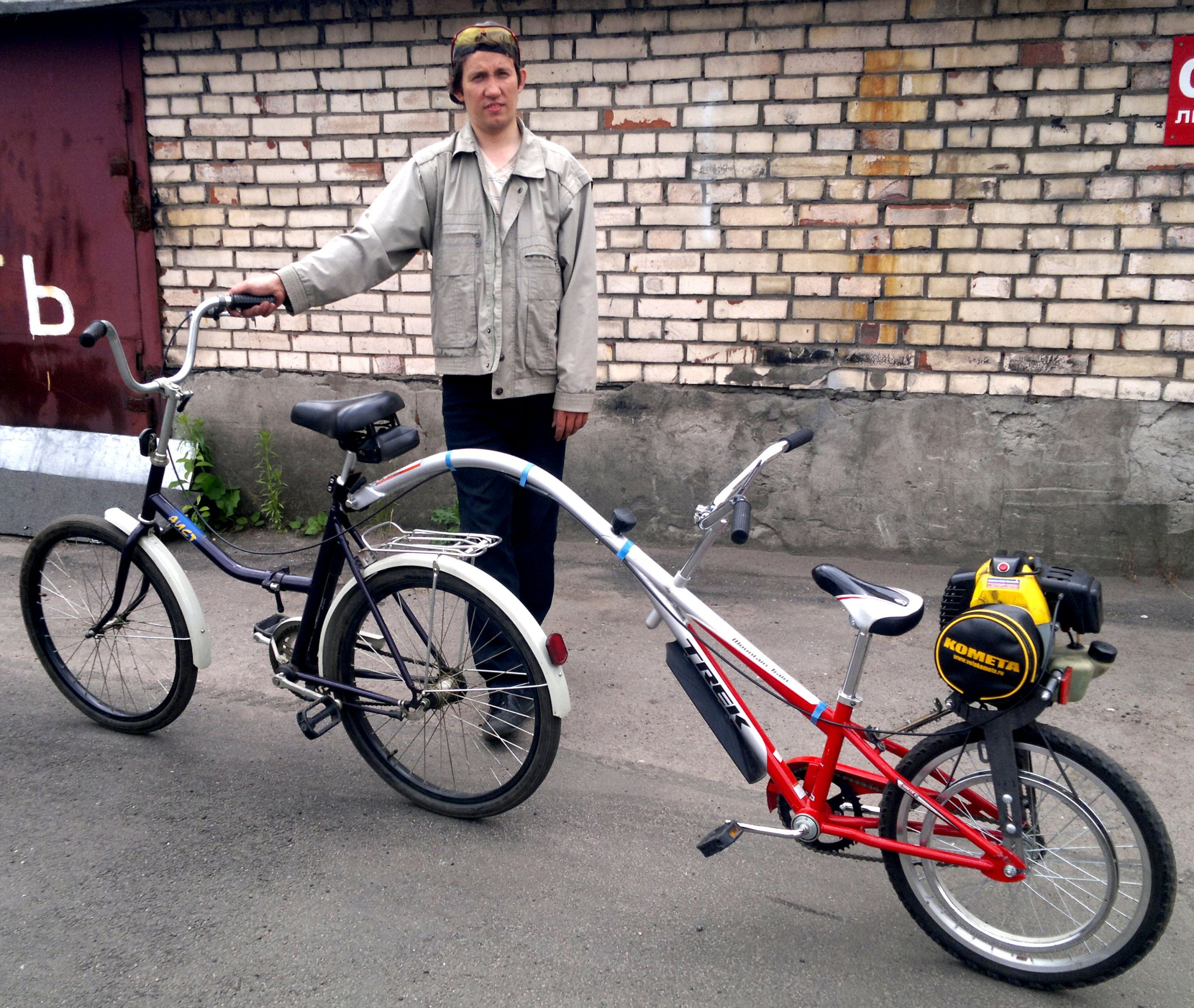 Самодельный мопед из велосипеда: необходимые материалы, порядок действий