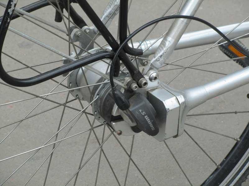 Велосипед с карданным приводом без цепи