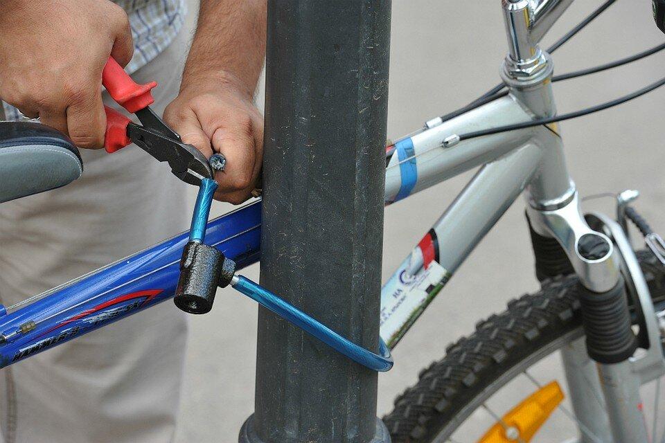 Чтобы не украли велосипед