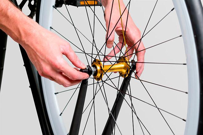 Снятие и установка колес велосипеда