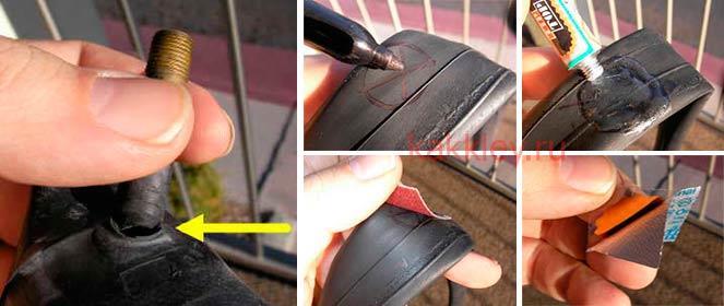 Как заклеить камеру велосипеда с помощью ремкомплекта — rollerbord