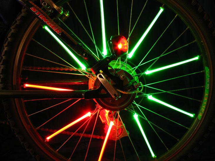 Неоновая подсветка на велосипед