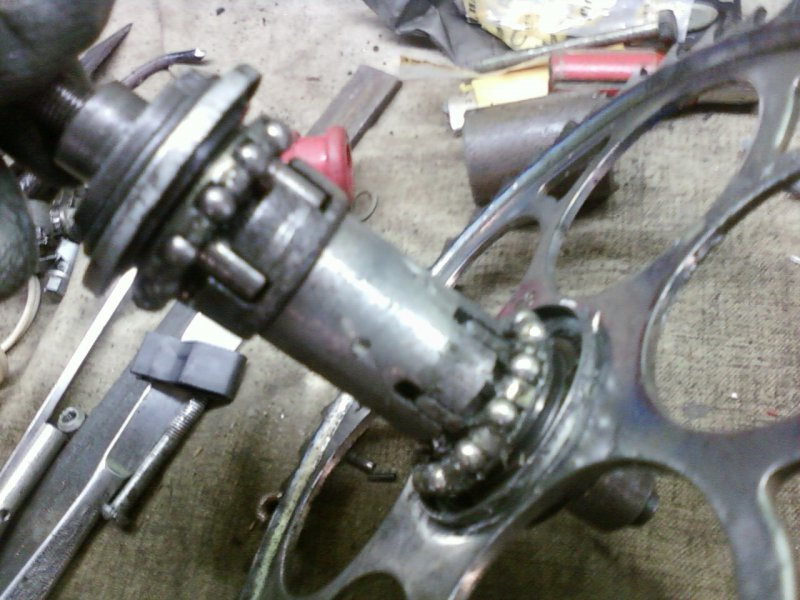 Велосипед с двигателем от триммера