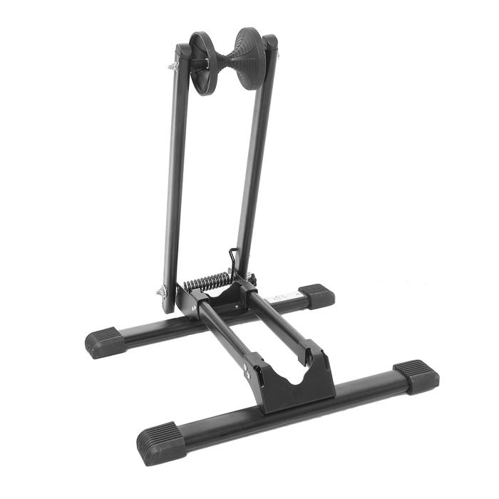 Подставка для велосипеда: напольная велосипедная стойка под заднее колесо, вертикальное крепление для обслуживания и хранения велосипеда