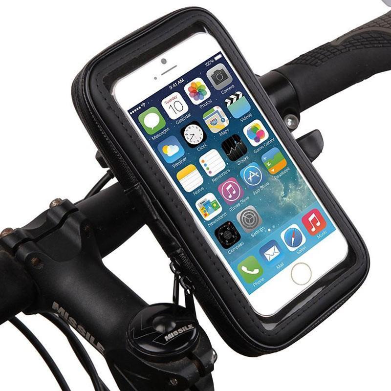 Держатель для телефона на велосипед: крепление на руль (чехол и подставка)